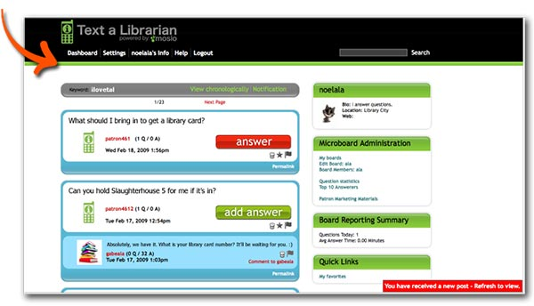 Sign up for the free Text a Librarian Demo