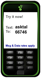 Text ASKTAL to 66746.