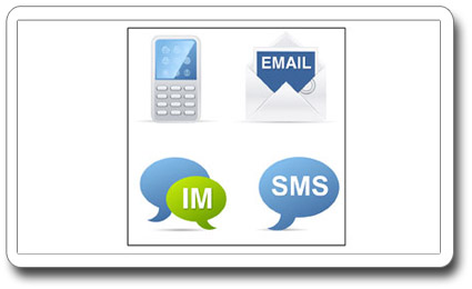 Receive incoming questions via email, chat, text message or on your microboard