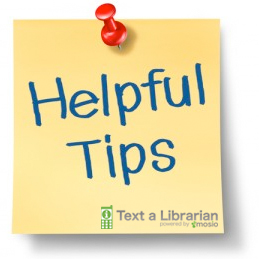 Text a Librarian Tips from Mosio | Virtual Reference Chat Widget